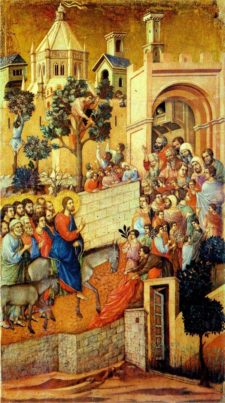 Duccio Christ Entering Jerusalem