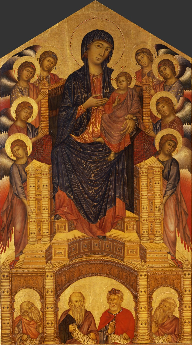 Cimabue and Giotto Madonna Enthroned
