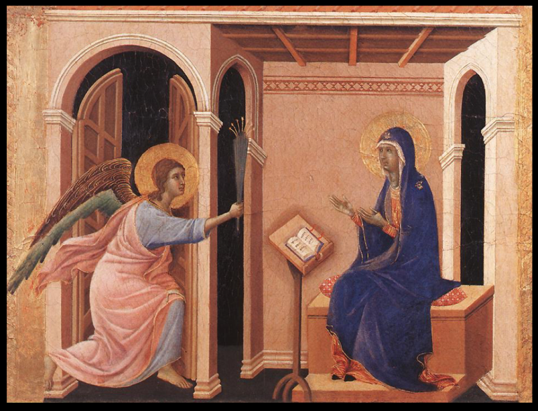 Duccio Annunciation of the Death of the Virgin