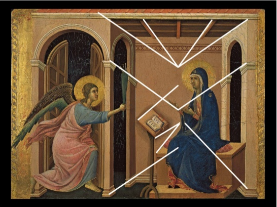 Duccio: Annunciation of the Death of the Virgin